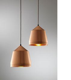 Beautiful copper pendant lights.