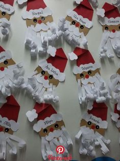 ✔ Christmas Decorations For Kids Santa Christmas Decorations For Kids, Christmas Arts And Crafts, Preschool Christmas, Christmas Activities, Christmas Projects, Kids Christmas, Holiday Crafts, Christmas Cards, Christmas Ornaments