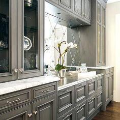 Beautiful Gray Kitchen Cabinets, Transitional, kitchen, Atlanta Homes & Lifestyles