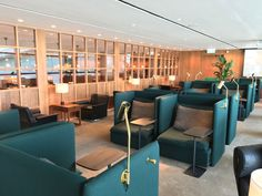 Cathay Pacific The Pier Business Class lounge Hong Kong Airport - Australian…