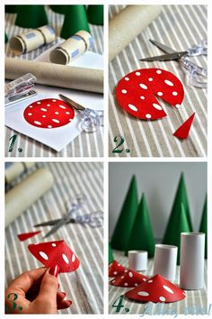 "DIY: Adventskalender ""Wald"" selber basteln - Teil Tannen, Fliegenpilze und Wolken Need some for your Advent calendar ? I prepared a lot of patterns for this one, so it's really easy! Halloween Crafts For Toddlers, Christmas Crafts For Kids To Make, Diy Crafts To Do, Fun Crafts For Kids, Fall Crafts, Kids Christmas, Diy For Kids, Paper Crafts, Diy Calendario"