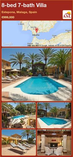 Villa for Sale in Estepona, Malaga, Spain with 4 bedrooms, 3 bathrooms - A Spanish Life Malaga Airport, Centre Island, Plumbing Installation, Puerto Banus, Malaga Spain, Single Bedroom, Pool Furniture, Open Fireplace, The Deed