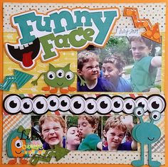 Funny Face layout by Lissa for Miss Kate Cuttables