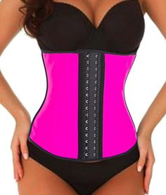 Fashion waist trainer waist cincher Lumbar Supports corset body shaper tummy control underwear vest sauna suit underbust bodysuit for woman man weight loss workout sports hourglass body XS Rosy >>> You can find more details by visiting the image link. http://www.erodethefat.com/blog/post-320/