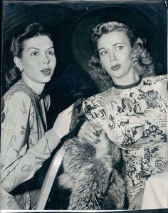 Ann Miller and Carole Landis, 1947