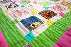 Have some of MY baby clothes (antiques now!!) + both of my children's baby clothes to make for my grandchildren to hopefully use for my Great-Grands!! How to Make a Baby Clothes Quilt