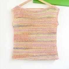 Annemarie's Haakblog: Crochet Summer Shirt Crochet Summer Tops, Crochet Top, Summer Shirts, Crochet Clothes, Fasion, Tank Tops, Tees, Womens Fashion, Sweaters