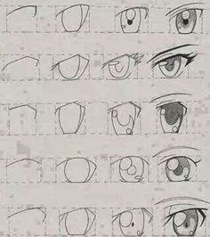 How to draw anime eyes step by step for beginners easy anime eyes picture manga tutorial Easy Anime Eyes, How To Draw Anime Eyes, Manga Eyes, Draw Eyes, Anime Eyes Drawing, Manga Mouth, Simple Anime, Anime Drawings Sketches, Pencil Art Drawings