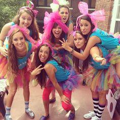 """We're mad about Sigma Kappa!"" Alice and Wonderland Bid Day Theme at UTC Sorority Bid Day, Sorority Sugar, Sorority Sisters, Sorority Recruitment, Sorority Life, Phi Sigma Sigma, Kappa Alpha Theta, Tri Delta, Delta Gamma"