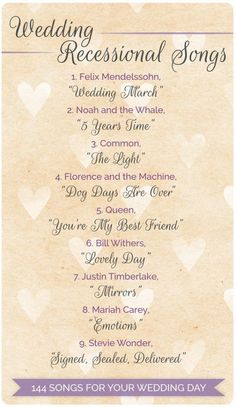 144 Wedding Songs For Every Part Of Your Day