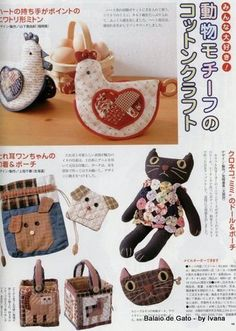 bags Tourism tourism in greenland Japanese Patchwork, Patchwork Bags, Quilted Bag, Toy Workshop, Chicken Pattern, Patch Aplique, Book Quilt, Bear Toy, Book Crafts