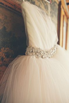 tulle and beading