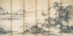コレクション 風景の交響楽 シンフォニー 初期狩野派 《四季花鳥図屏風》 静岡県立美術館|Shizuoka Prefectural Museum of Art