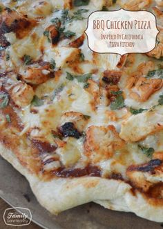 BBQ Chicken Pizza - Inspired by California Pizza Kitchen | Family Gone Healthy.