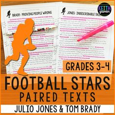 Engaging paired passages about players in the 2017 Super Bowl!  Your students will love comparing and contrasting two of the best players in the NFL!  Includes a quiz and writing prompt.
