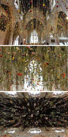 'The Flower Garden Display'd 2014′ is an installation by Rebecca Louise Law commissioned by London's Garden Museum to feature in their Flowers & Fashion exhibition. It is floating meadow of 4,600 blooms.