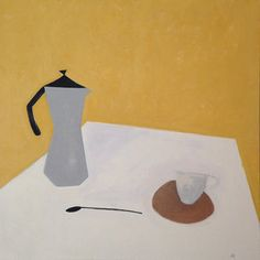 still life in yellow acrylic on linen canvas 70x70 cm 2016