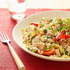Pork Fried Rice...This is a great way to use leftover rice. Sub in chicken breast or even more veggies for the pork, if you wish.