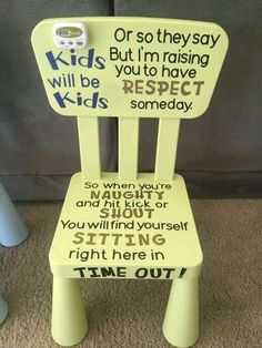 Adorable Kids Time Out chair for your little one when the kids are naughty! Perf… Adorable Kids Time Out chair for your little one when the kids are naughty! Perfect for the terrible twos. and threes… and beyond! Kids And Parenting, Parenting Hacks, Parenting Styles, Parenting Plan, Parenting Classes, Foster Parenting, Time Out Chair, Futur Parents, Foto Newborn