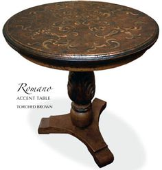 ROMANO Hand Painted Accent Table... Our Hand Painted Table Collection  Offers A Variety