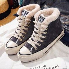 eb498fc98860 Women Winter Warm Boots Lace-up Suede High-Low Heel Shoes  sneakerswinter