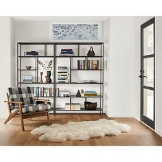 Foshay Bookcases in Natural Steel - Modern Bookcases & Shelves - Modern Office Furniture - Room & Board
