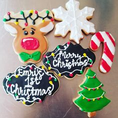 "43 Me gusta, 2 comentarios - Crafted Cookies (@craftedcookies9) en Instagram: ""Emri's first Christmas set of cookies @vigils03 #craftedcookies #christmascookies #reindeercookies…"""