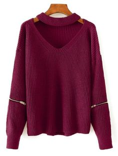 GET $50 NOW | Join Zaful: Get YOUR $50 NOW!http://m.zaful.com/cut-out-chunky-choker-sweater-p_234383.html?seid=1790911zf234383