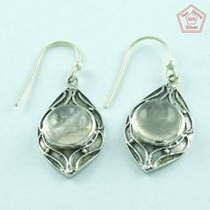 925 Handmade Sterling Silver Rainbow Moon Stone Fashion Earring E3414 #SilvexImagesIndiaPvtLtd #DropDangle