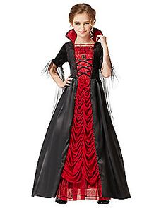 Victorian Vampiress Girls Costume - Being this cute is draining, but the Victorian Vampiress Girls Costume will leave you the most glamorous blood sucker around. This elegant gown featur Kids Costumes Girls, Halloween Costumes For Girls, Girl Costumes, Halloween Kids, 50s Costume, Costume Ideas, Hippie Costume, Halloween 2020, Spirit Halloween
