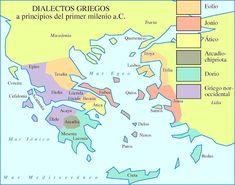 Grecia - Dialectos en el primer milenio a.C.