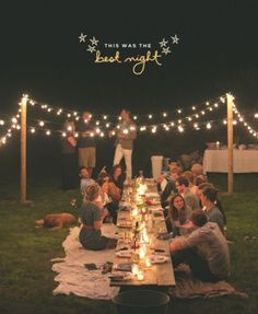 Throw your next summer party at night!