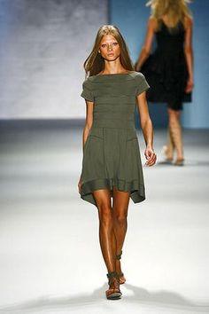Leighton Meester wearing Derek Lam Spring/Summer 2011 Rtw Dress.