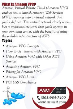 Amazon AWS-What is Amazon VPC?For more information to Become Certified for Amazon AWS Please Repin and Check out : http://asmed.com/aws-certified-solutions-architect-associate/