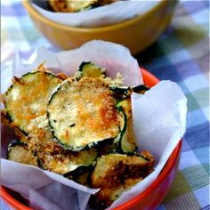 The healthiest and most delicious chips around! Oven Baked Zucchini Chips!