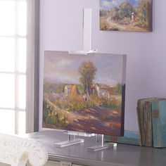 Acrylic Easel - To hold framed black and white pic in kitchen