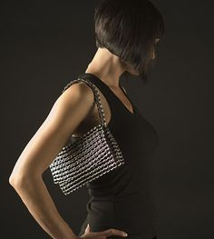 Amazing bags made with collected aluminium drinks can tabs   #upcycled #recycled…