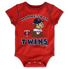 Minnesota Twins Boys' 3pk Bodysuit Crawlers 12M, Size: 12 Months, Multicolored