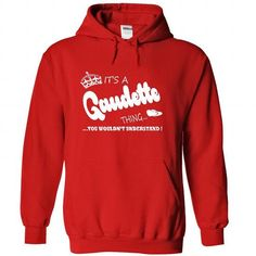 Its a Gaudette Thing, You Wouldnt Understand !! Name, H - #diy gift #mothers day gift. CHECKOUT => https://www.sunfrog.com/Names/Its-a-Gaudette-Thing-You-Wouldnt-Understand-Name-Hoodie-t-shirt-hoodies-5227-Red-30991746-Hoodie.html?68278