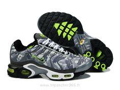 wholesale dealer 59386 965c2 Chaussures de Nike Air Max Tn Requin Homme Gris et Vert Acheter Nike Tn Pas  Cher