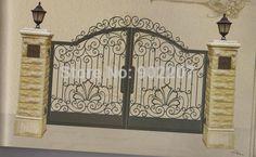 Henchuang villa portão de ferro forjado portões de ferro forjado portões de ferro forjado projetos portão de ferro de metal de aço