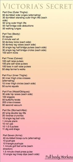 Victoria Secret Workouts