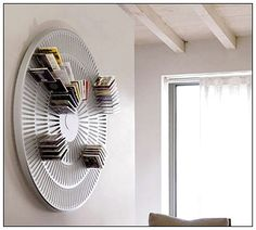 Annular CD Rack ~ Wish I could find this for sale! Dvd Storage Units, Dvd Storage Tower, Dvd Storage Cabinet, Dvd Storage Case, Wall Storage, Storage Ideas, Storage Solutions, Organization Ideas, Home Organization