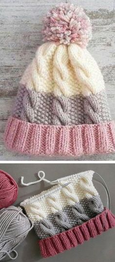 Cozy Cable Knit Hat - Free Pattern, knitting for babies, Knitting Blogs, Loom Knitting, Knitting Stitches, Knitting Patterns Free, Free Knitting, Knitting Projects, Baby Knitting, Crochet Patterns, Free Pattern