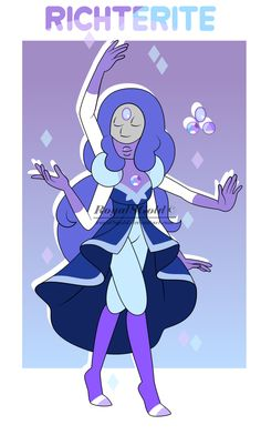 Fusion of: Pearl + Amethyst + Sapphire Pronouns: She, her Richterite is calm and energetic. Despite her lovely personality, she can lose focus and can get caught in a trance. She loves to laugh and moves gracefully, but can be caught in silly...
