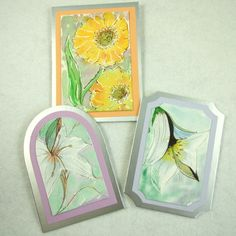 Card Toppers - Fine Flowers, Set of 3 £2.95