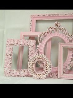 Refurbished Picture Frames. Frames are given a new look. Old to new. Shabby Chic
