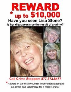Lisa Stone....missing from Dallas, TX, since June 5, 2010