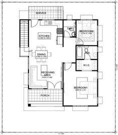 Diseño de casa pequeña de 2 plantas