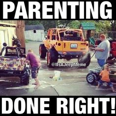 If anyone knows the owner or has a clearer pic let me know! Love Jeep parents! #Padgram